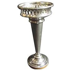 English Sterling Silver Trumpet Vase
