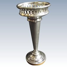 English Sterling Silver Trumpet Vase