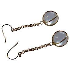 Vintage Rock Quartz Vermeil Pools of Light Earrings