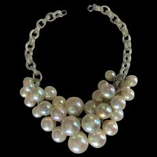 Vintage Art Deco Blown Glass Bubble Necklace