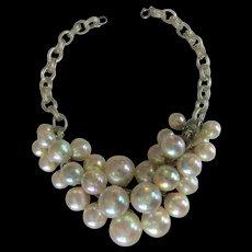 Vintage Art Deco Blown Glass Bubble Necklace