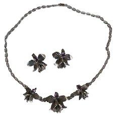 Vintage Carol Felley Amethyst Necklace, Earrings