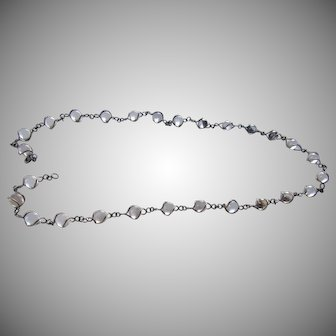 Art Deco Pools of Light Necklace