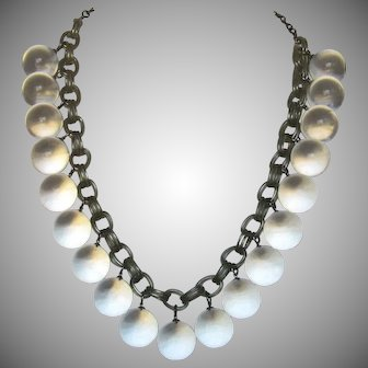 Vintage Lucite Orbs Pools of Light Necklace