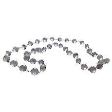 Vintage Mid Century Rock Quartz Orbs Pools of Light Necklace