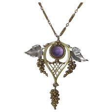 Antique Arts and Crafts Amethyst Necklace