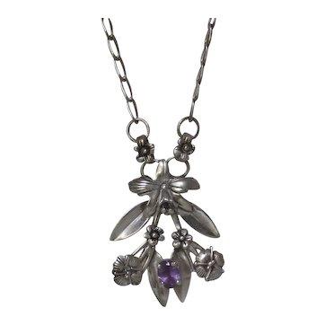 Carlo Felley Sterling Silver Amethyst Necklace