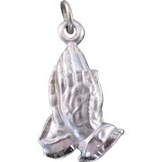 Sterling Silver Charm Hands Praying Prayer Theme Religious Christian Peace