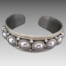 Mid Century Sterling Silver SIAM Cuff Fabulous Design