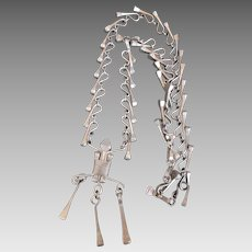 Amazing Horse Shoe Nail Necklace Scarce Find Big & Bold