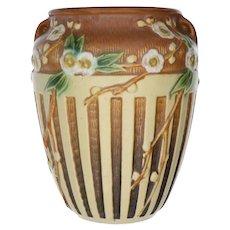 Roseville Art Pottery Cherry Blossom Vase with Original Label