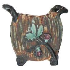 "Weller Art Pottery Warwick 4 1/2"" Pillow Vase"