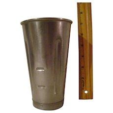 Vintage Stainless Steel Malt Mixer Cup