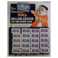 Vintage Pal Razor Advertising Store Easel Display
