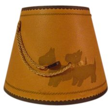 Vintage Scottie Dog Lamp Shade