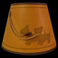 Vintage Scottie Dog Lamp Shade