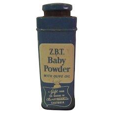 Vintage Z.B.T. Baby Talc Gift Tin