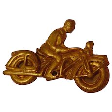 Vintage Tiny Metal Motorcycle Pin