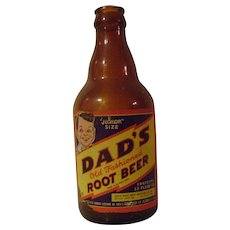 Vintage Dad's Old Fashioned Root Beer Bottle with Paper Label