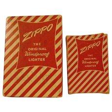 2 Vintage Zippo Cigarette Lighter Boxes
