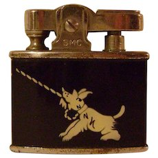 Vintage Cigarette Lighter Wirh Scottie on Front