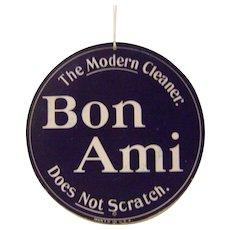 Vintage Bon Ami Cardboard Fan Hanger