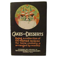 Vintage 1927 Cakes and Desserts Cook Booklet