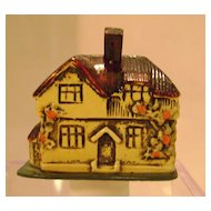 Vintage English Cottage Figural Tape Measure