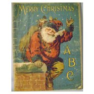 Vintage Mc Loughlin Linen A B C Santa Book