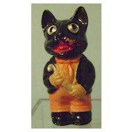 Vintage Halloween Celluloid Wind Up Cat