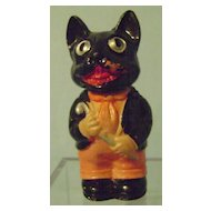 Vintage Halloween Celluloid Wind Up Cat