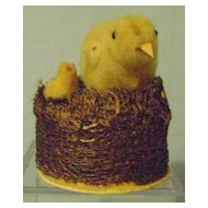 Vintage Easter Chick Candy Container