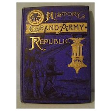 Vintage History Grand Army of the Republic Book