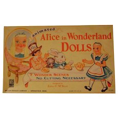 Vintage Boxed Set Alice in Wonderland Animated Paper Doll