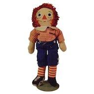 Vintage Musical Raggedy Andy Knickerbocker Doll
