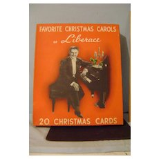 Vintage Box Liberace Christmas Cards