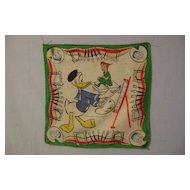 Vintage Donald Duck/Peter Pan Hankie