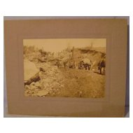 Vintage Photograph of 'Cutting Down Indian Hill'