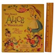 Vintage Walt Disney's Alice in Wonderland Notepaper and Envelopes