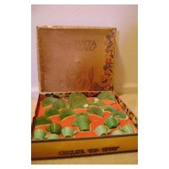 Vintage Chiquita Akro Agate Doll Dishes in Original Box
