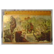 Vintage Animal Zoo Puzzle