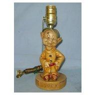 Vintage 1938 Dopey Chalk Lamp