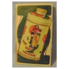 Vintage Sample Pac San Toy Talcum Powder