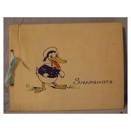 Vintage Donald Duck Photo Album