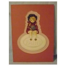 Vintage Fairy Soap Die Cut
