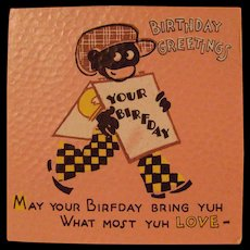 Black Americana Birthday Card  with envelope