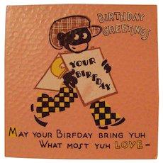 Black Americana Birthday Card  with envelope