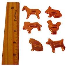 Vintage Mini Copper Cookie Cutters