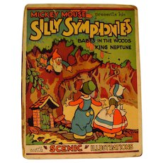 Vintage Silly Symphonies Pop-Up Book