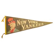 Vintage New York Yankee Pennant with Uncle Sam